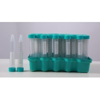 15 mL Conical, Sterile, D/RNase-free, Non-pyrogenic, 10,000 Max. RCF(xg), Recyclable PS Rack, 50 Pcs/ Case