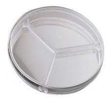 90 mm Petri Dish, 3 Compartments, Sterilized, Non-pyrogenic, 500 Pcs/ Case